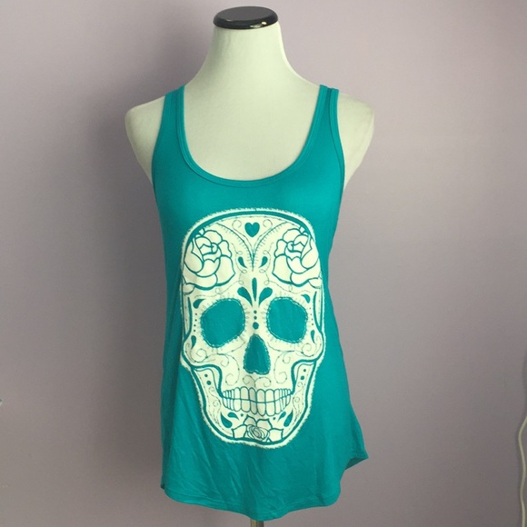 Black Matter Tops Sugar Skull Tank Top Poshmark